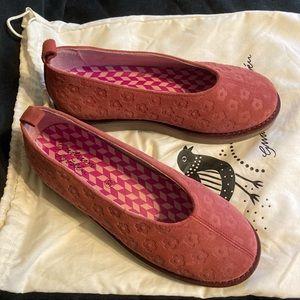 Gudrun Sjoden Myrten Pink Suede Slip-On Shoes 37